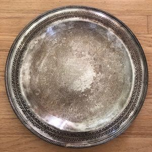 """🌿Vintage Silver Plated WM Rogers #126 15"""" Platter"""